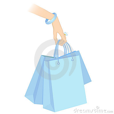 Holding shopping packages