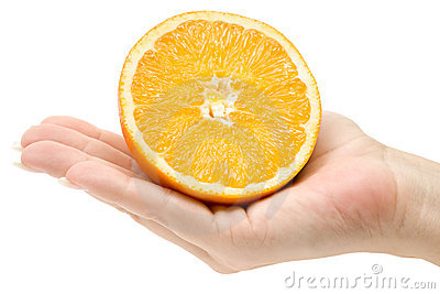 Holding a Sliced Orange