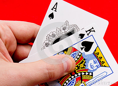 Holding spades