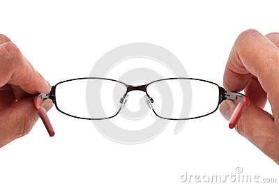 Holding spectacles