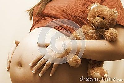 Holding Teddy