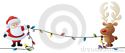 String Christmas Lights Together : Holding It Together Lights Stock Vector - Image: 45495735