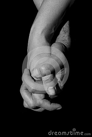 Free Holding Two Hands Together. Union And Love Concept. Royalty Free Stock Photo - 48099755