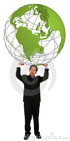 Holding Up 3D Globe