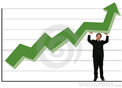 Holding Up Green Stock Chart