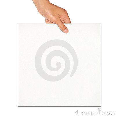 Holding white board