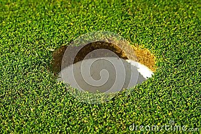 Hole of beautiful golf course