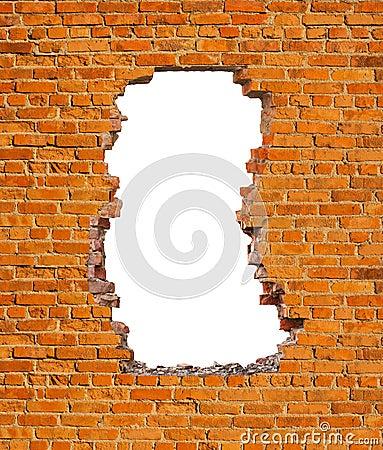 Free Hole Brick Wall Stock Images - 99403474