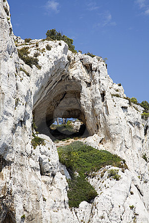 Hole in the Calanques
