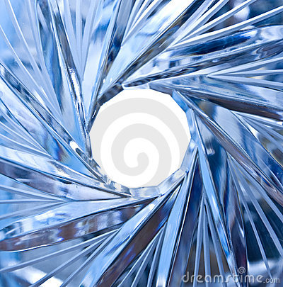 Hole in crystal