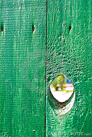 Hole in a fence