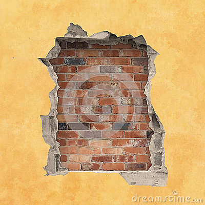 Free Hole In A Wall Stock Photography - 33552432