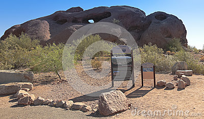 A Hole in the Rock Shot, Phoenix Editorial Stock Photo