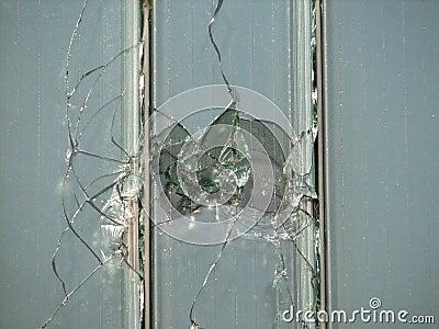 Hole in a window