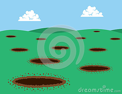 Holes in Grass