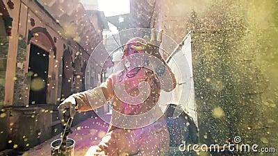 Holi节日慢动作
