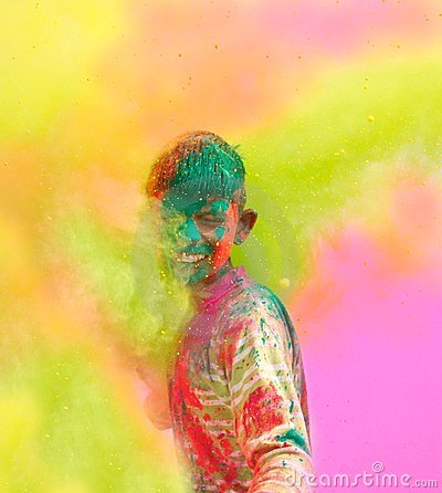 Free Holi Celebrations In India. Stock Photos - 24021763