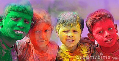 Holi celebrations in India.