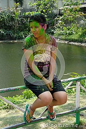 Holi Festival Editorial Photo