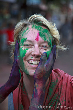 Holi festival in India Editorial Stock Image