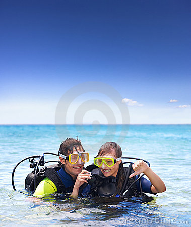 Holiday activity, scuba diving