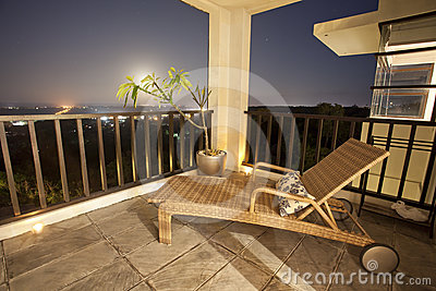 Holiday apartment balcony