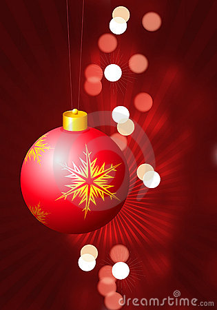 Holiday background with Christmas Ornaments