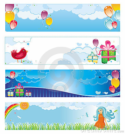 Free Holiday Banners Royalty Free Stock Image - 5836196
