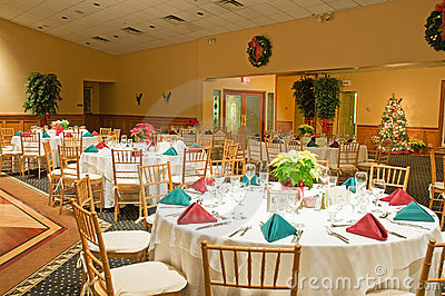 Holiday banquet tables
