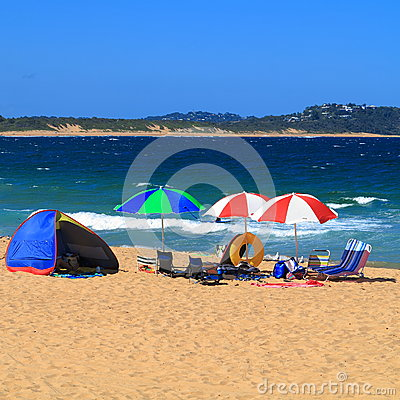 Free Holiday Beach Camping Royalty Free Stock Photo - 36658015