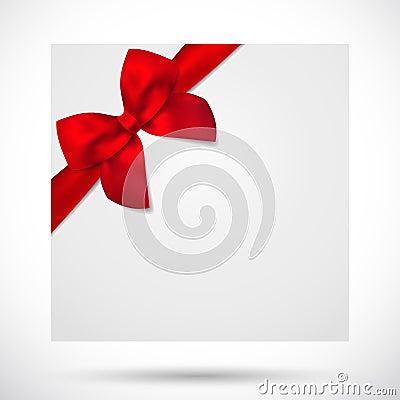Free Holiday Card, Christmas / Gift Birthday Card, Bow Royalty Free Stock Photo - 33418205