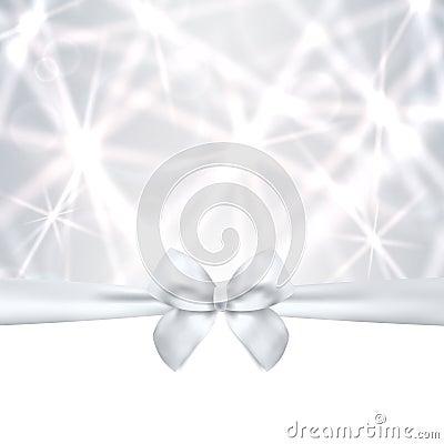 Free Holiday Card, Christmas / Gift Birthday Card, Silv Stock Photography - 34469622