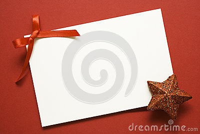 Holiday card with red star