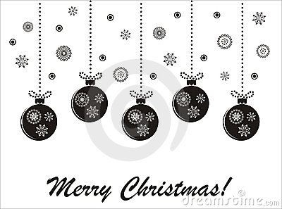 Holiday christmas black-and-white  card