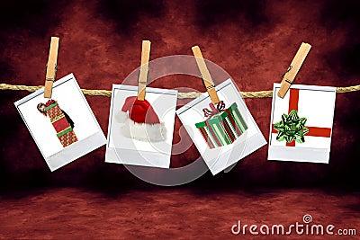 Holiday Christmas Images: Santa Hat, Gifts and Chi