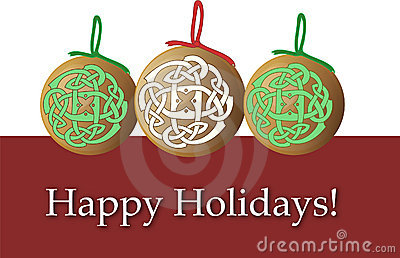 Holiday Christmas Ornaments Card