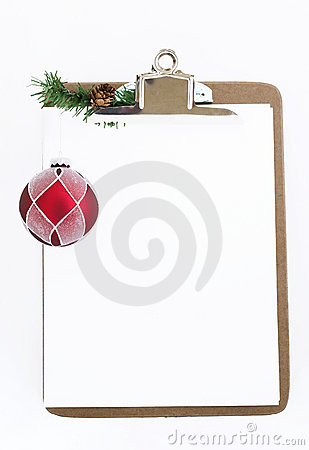 Holiday clipboard (place for your writing)