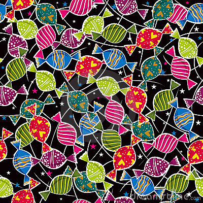 Holiday color pattern with candys ,