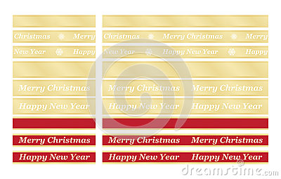 Holiday congratulation ribbons