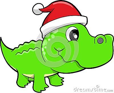 Holiday Gator Safari Vector