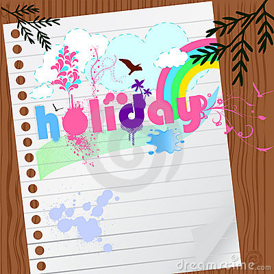 Holiday graphic with paper