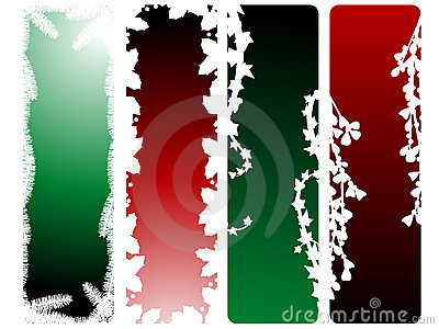Holiday greenery banners 03