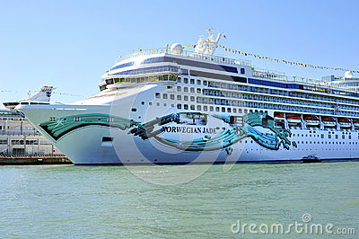 Holiday luxury ship Norwegian Jade in Venice Editorial Stock Image