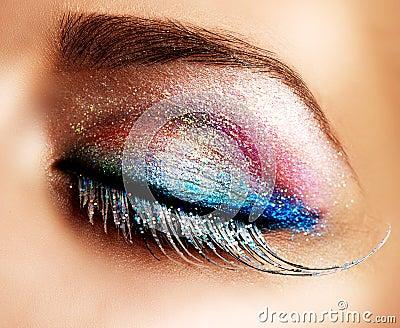 Holiday Make-up. False Lashes