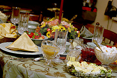 Holiday Meal Table