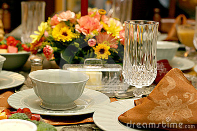 Holiday Meal Table Setting