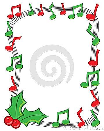 Free Holiday Music Border Royalty Free Stock Photo - 22257165