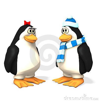 Free Holiday Penguin Set Royalty Free Stock Image - 374156