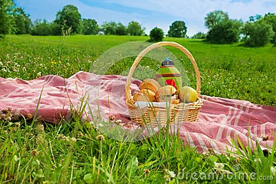 Holiday picnic in park