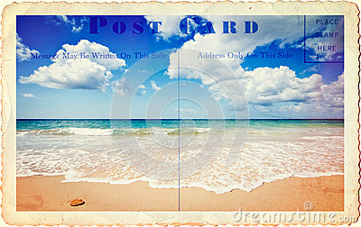 Summer Holiday Postcard Royalty Free Stock Images - Image: 22048039